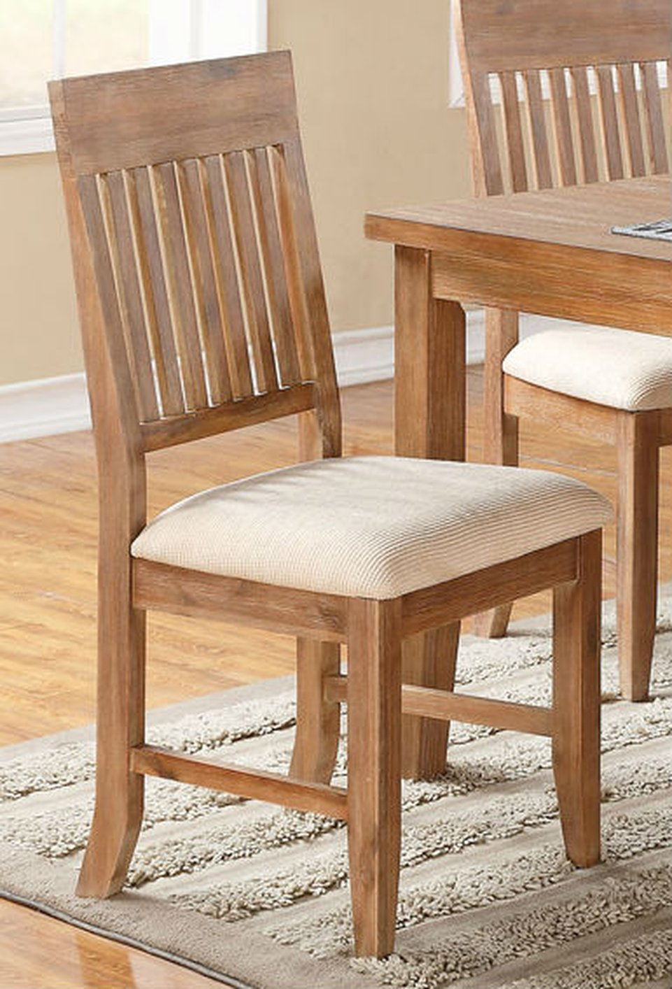 Wood dining chair - Brown Wood Dining Chair