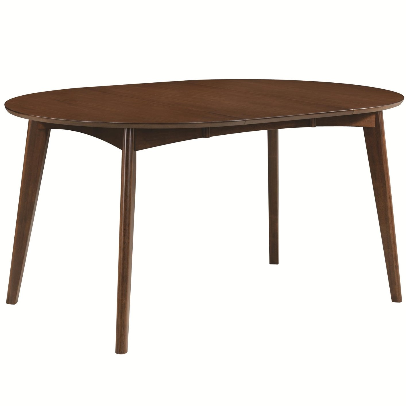 coaster 105361 brown wood dining table steal a sofa
