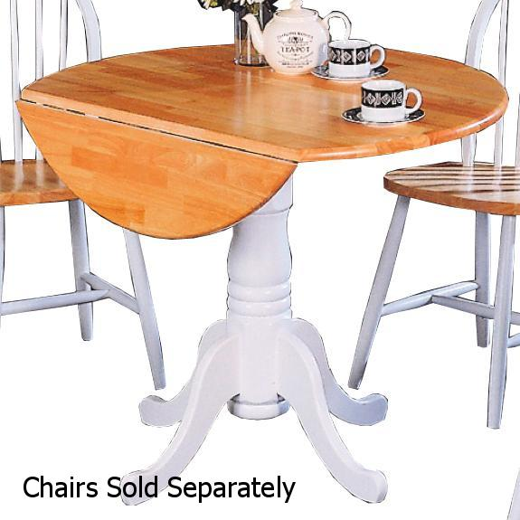 Coaster 4241 White Wood Dining Table Steal A Sofa