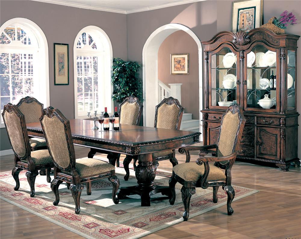 Brown Wood Dining Table - Steal-A-Sofa Furniture Outlet Los Angeles CA