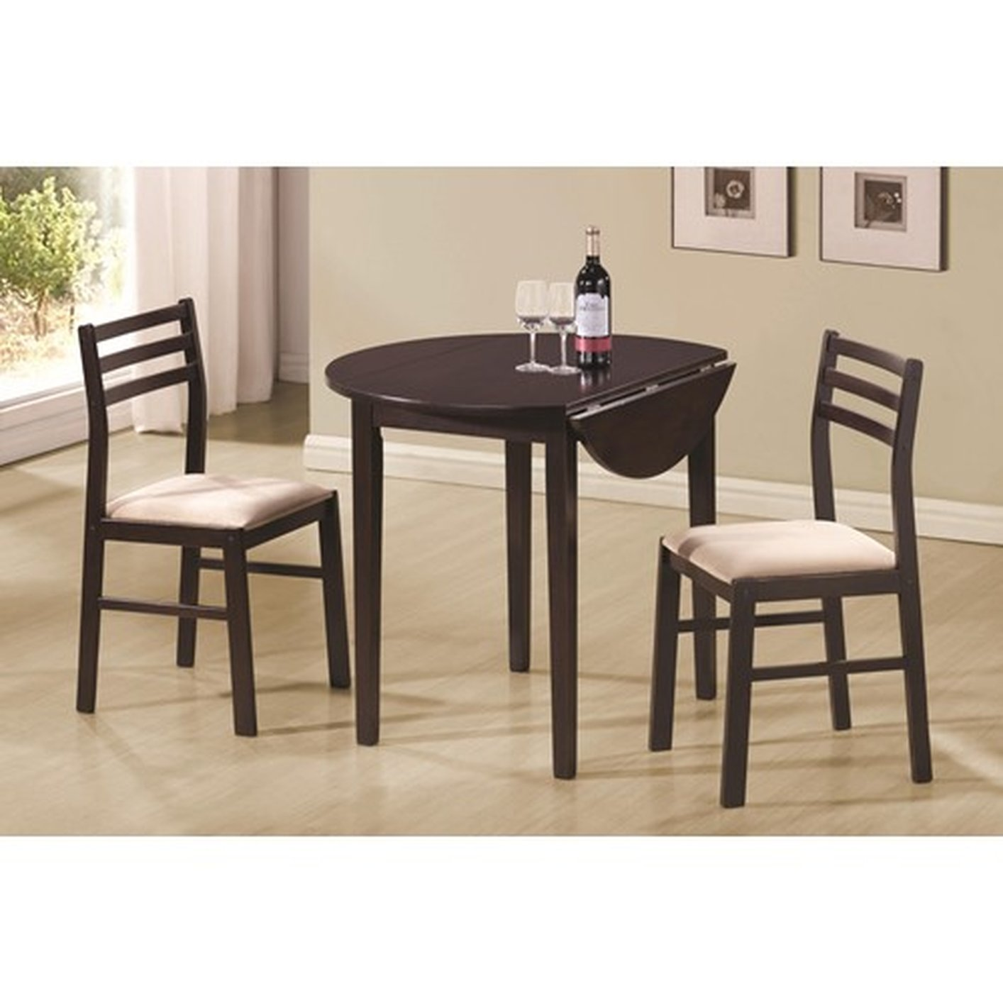 Coaster 130005 brown wood dining table and chair set for Furniture 90036