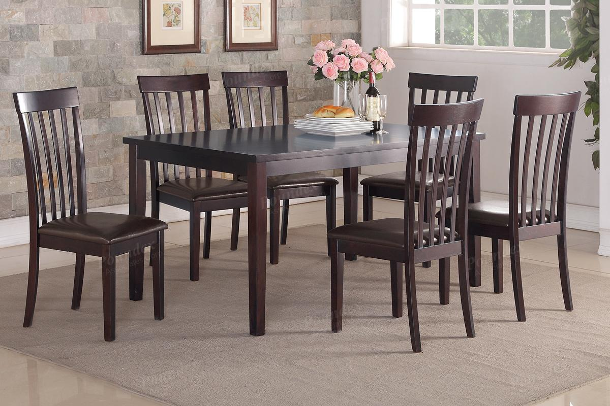brown wood dining table and chair set - Wooden Dining Table And Chairs