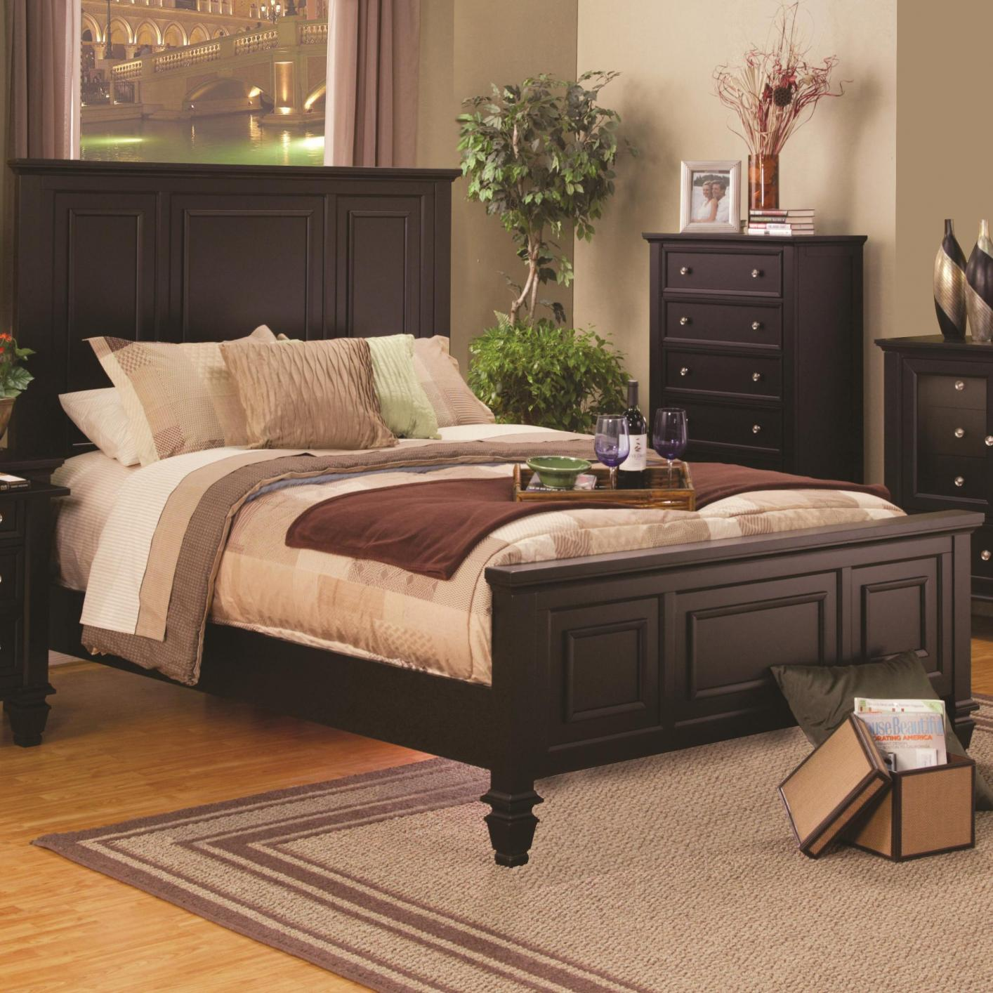 Groovy Brown Wood Bed Beutiful Home Inspiration Ommitmahrainfo