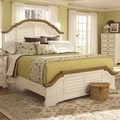 Beige Wood Bed
