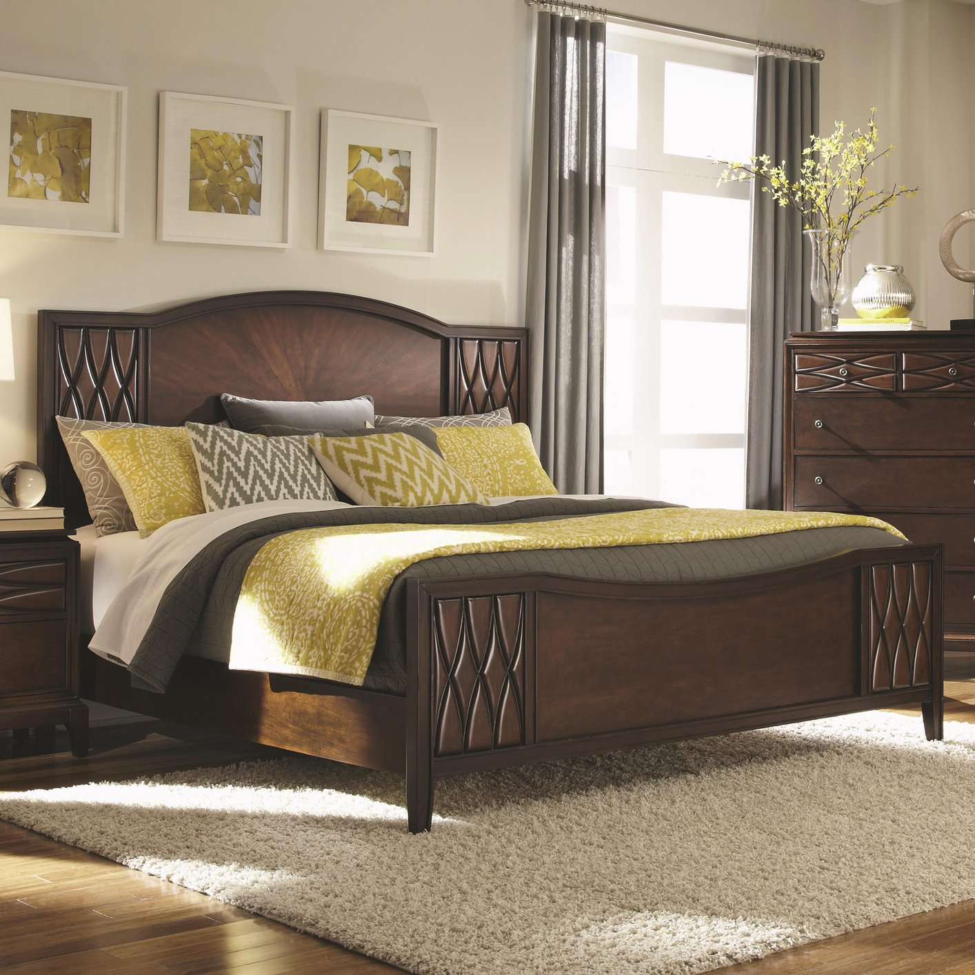 brown wood bed - King Size Wood Bed Frame