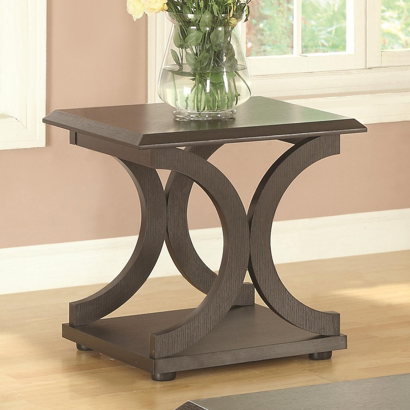 Brown wood end table steal a sofa furniture outlet los angeles ca