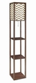 Brown Wood Floor Lamp