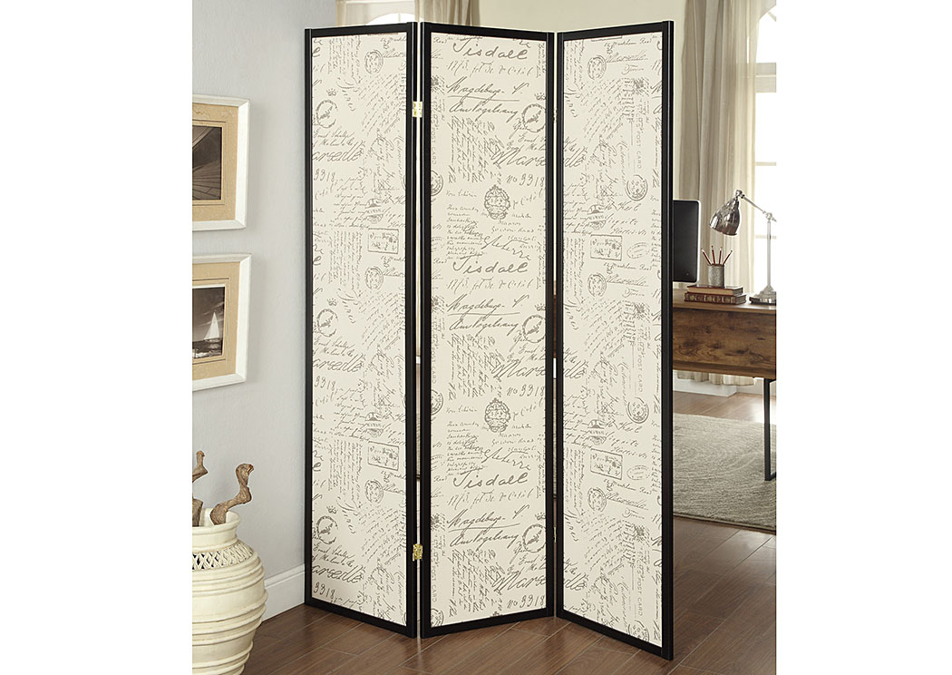Brown Wood Folding Screen Steal A Sofa Furniture Outlet Los Angeles CA