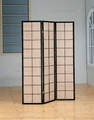 Brown Wood Folding Screen
