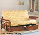 Brown Wood Futon Frame