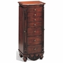 Red Wood Jewelry Armoire