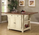 Beige Wood Kitchen Island