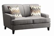 Brown Wood Loveseat