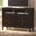 Carlton Brown Wood Media Chest