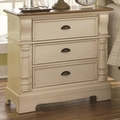 Beige Wood Nightstand