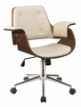 Brown Wood Office Chair