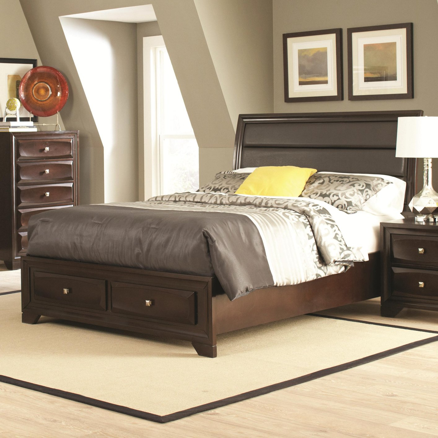 Coaster 203481q Brown Queen Size Wood Bed Steal A Sofa