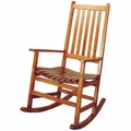 Brown Wood Rocking Chair