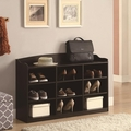 Brown Wood Shoe Cabinet