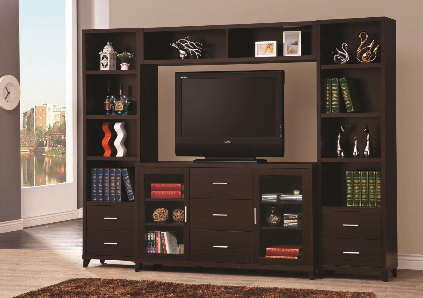 Perfect Brown Wood TV Stand Brown Wood TV Stand ...