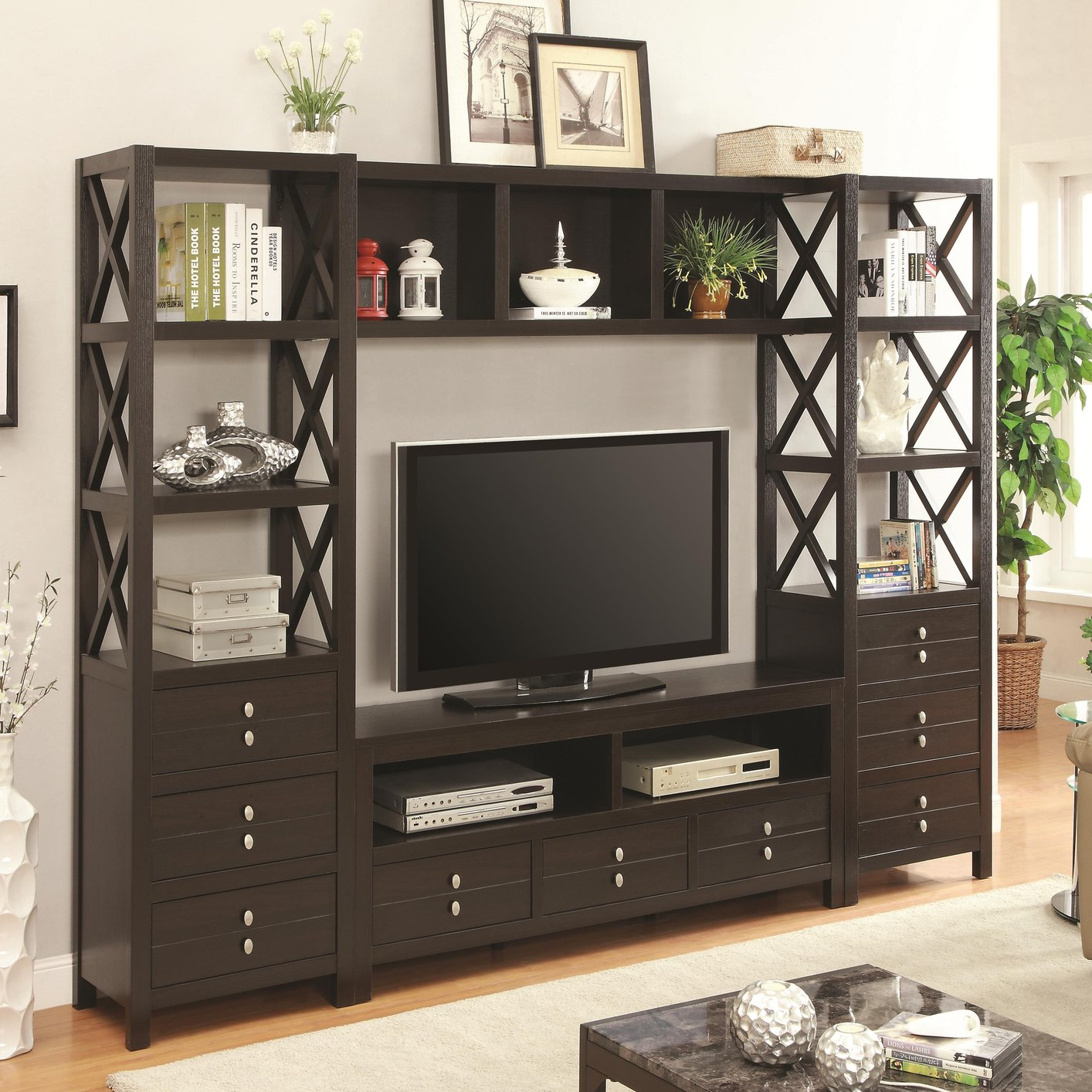 Brown Wood TV Stand Brown Wood TV Stand ...