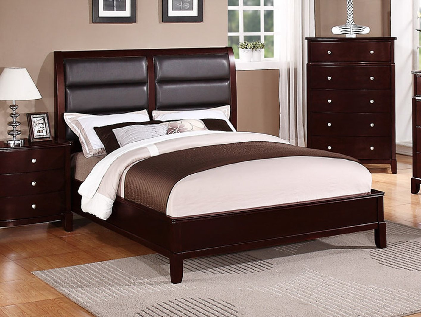 Poundex f9175ck california king bed in los angeles ca California king beds