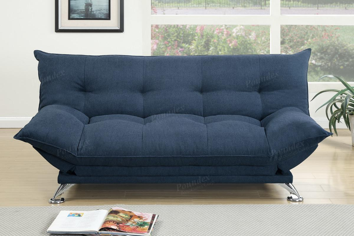 Cap Blue Fabric Sofa Bed