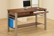 Brown Metal Computer Desk