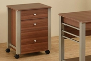 Brown Wood File Cabinet