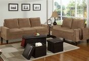 Carrelli Sofa, Loveseat and Ottoman Set