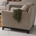Carver Beige Fabric Chair
