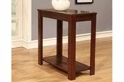 Brown Wood Chair Side Table