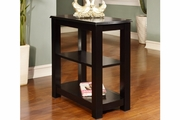 Black Wood Chair Side Table