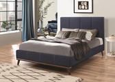 Charity Blue Fabric Bed