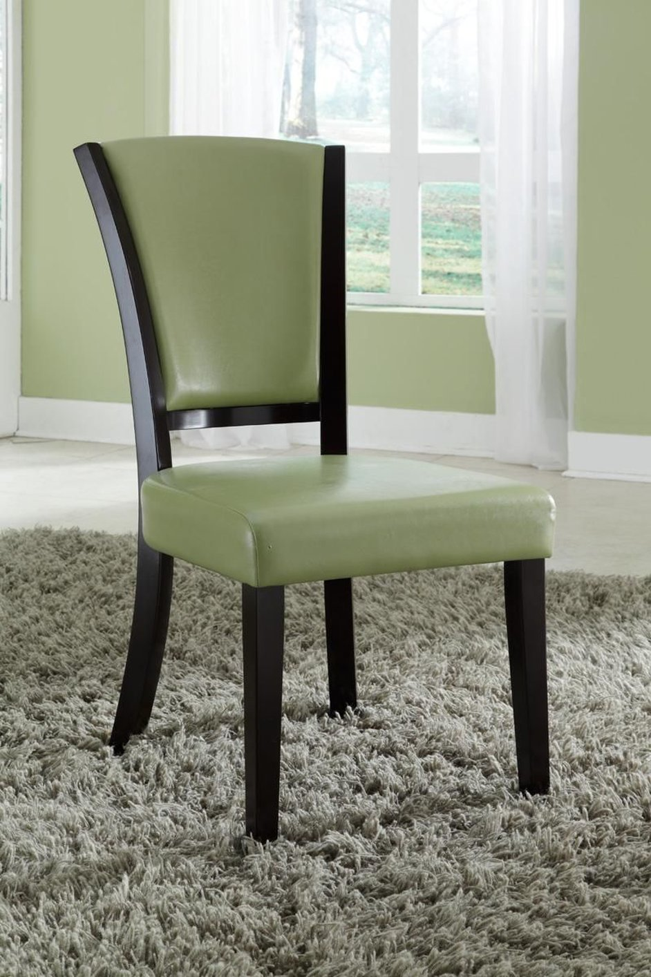 Green Leather Dining Chair Steal A Sofa Furniture Outlet