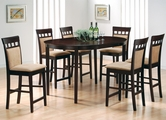 Charlotte Cushion Cappuccino Wood Pub Table Set