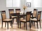 Charlotte Cushion Dark Cappuccino Wood Dining Table Set