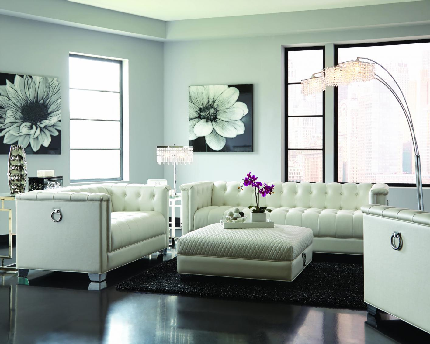 Chaviano White Leather Sofa Steal A Sofa Furniture
