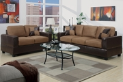 Tesse Beige Leather Sofa and Loveseat Set