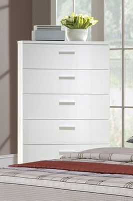 White Wood Chest of Drawers