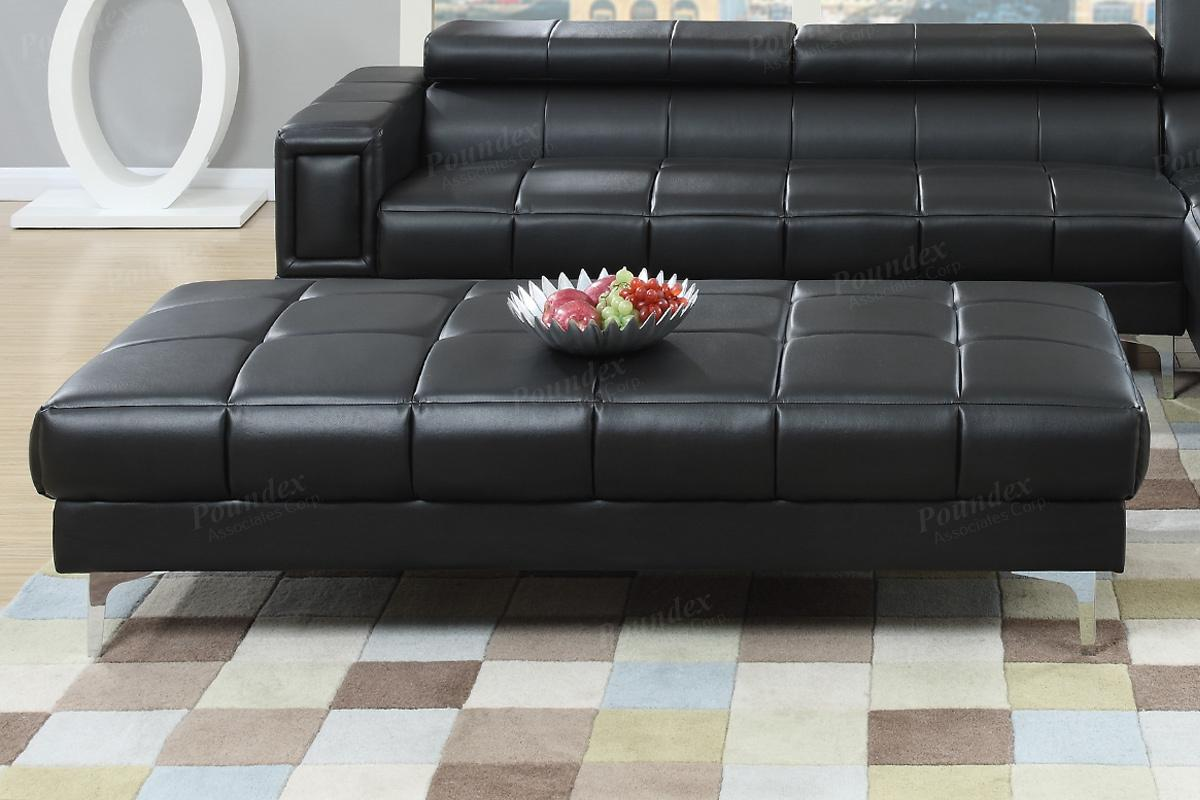 Black Leather Ottoman Steal A Sofa Furniture Outlet Los