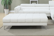 Chester White Leather Ottoman