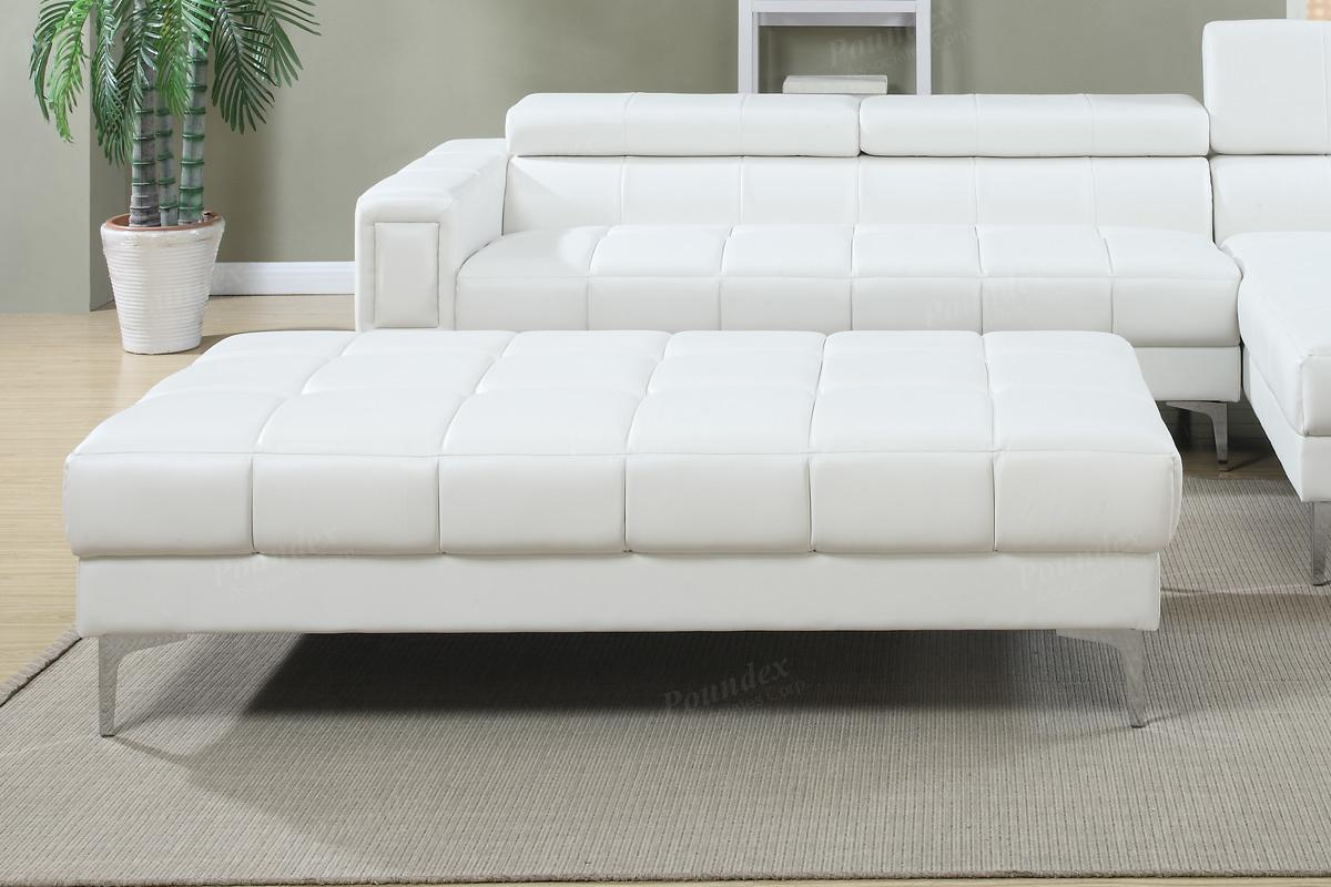 chester white leather ottoman  stealasofa furniture outlet los  - chester white leather ottoman