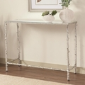 Clear Metal Console Table