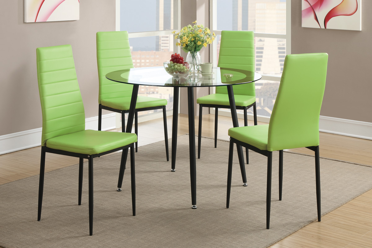 Clear Metal Dining Table And Chair Set Steal A Sofa