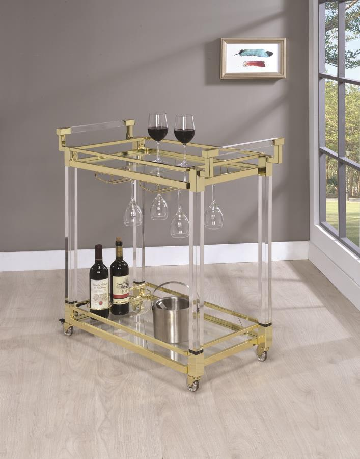 Clear Metal Serving Cart Steal A Sofa Furniture Outlet