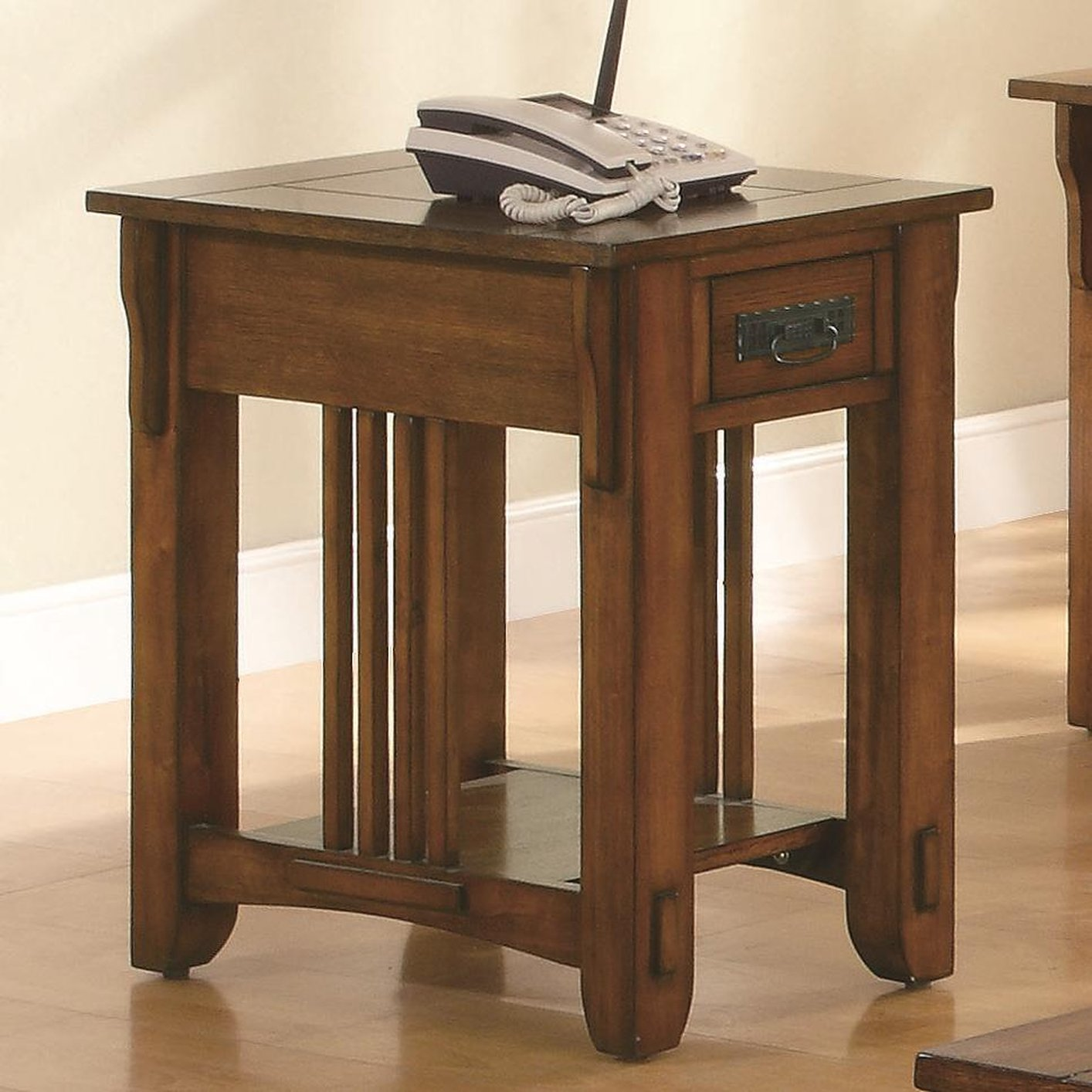 Colton Brown Wood Chair Side Table Steal A Sofa Furniture Outlet