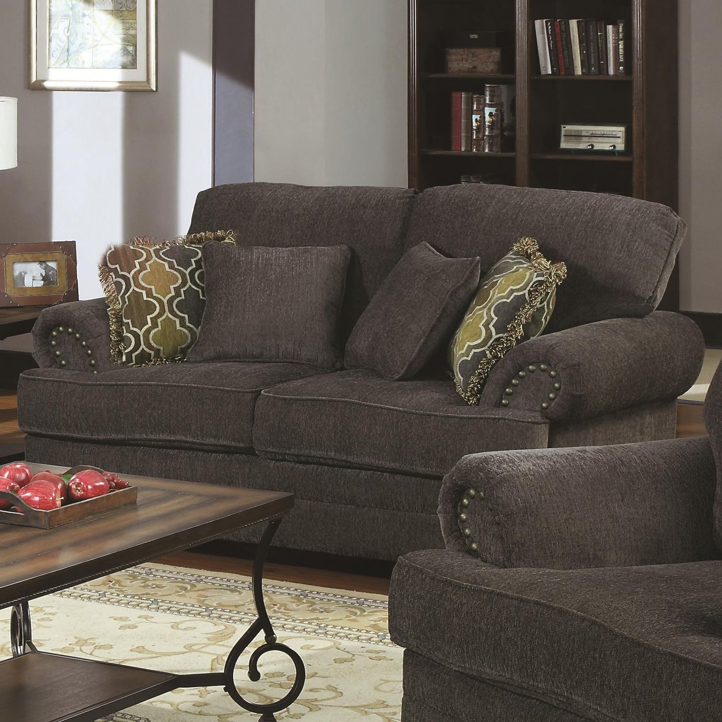 Colton Grey Fabric Loveseat Steal A Sofa Furniture Outlet Los