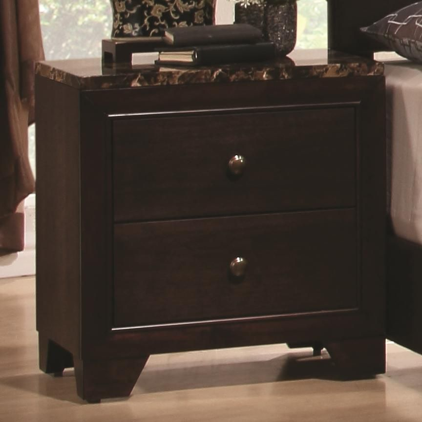 Brown Wood Nightstand Steal A Sofa Furniture Outlet Los Angeles CA