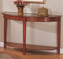 Brown Wood Console Table